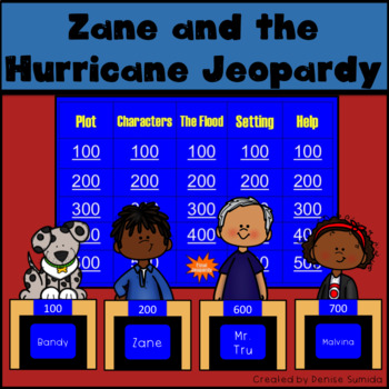 Zane and the Hurricane by Rodman Philbrick Jeopardy