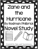 Zane and the Hurricane by Rodman Philbrick Novel Study