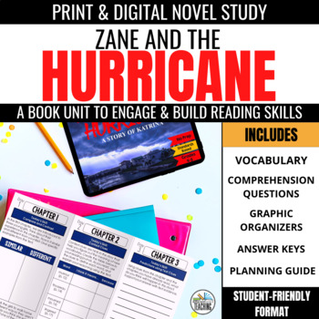 Zane & the Hurricane Novel Study Unit