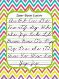 Zaner-Bloser Cursive Poster {Chevron Brights}