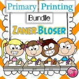 Zaner-Bloser Uppercase and Lowercase Handwriting  Bundle