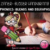 Zaner-Bloser Handwriting| Sentence Writing Practice| Blends and Digraphs|Phonics