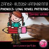 Zaner-Bloser Handwriting Sentence Writing Practice Long Vowel Spelling Patterns