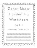 Zaner-Bloser Handwriting Worksheets