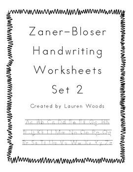 Zaner-Bloser Handwriting Worksheets - Set 2
