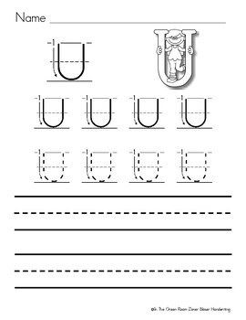 Zaner Bloser Handwriting Worksheets Uppercase and Lowercase