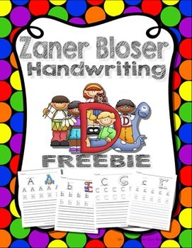 Zaner Bloser Handwriting Worksheets Uppercase and Lowercase FREEBIE