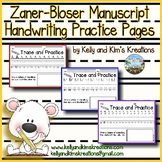 Zaner-Bloser Manuscript Handwriting Practice Pages