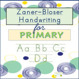 Zaner-Bloser Handwriting...with student reference sheet