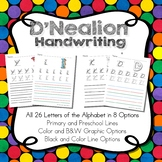 D'Nealion Handwriting Worksheets Uppercase and Lowercase