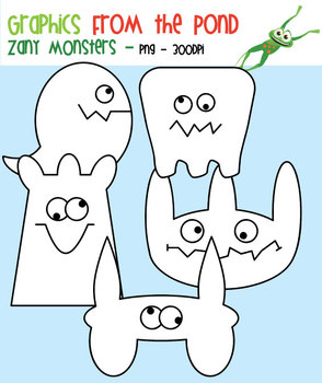 Zany Monsters Clipart