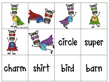 Zany R Controlled Vowel Activities
