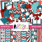 Read Books Day Across America Clip Art {Scrapbook Paper, F