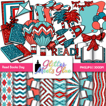 Zany Read Books Day Across America Clip Art - Books, Ballo