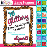 Zany Frames Clip Art | Rainbow Glitter Labels for Worksheets and Resources