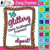 Zany Frames Clip Art {Rainbow Glitter Labels for Worksheet