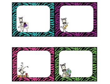 Zany Zebra Classroom Pack