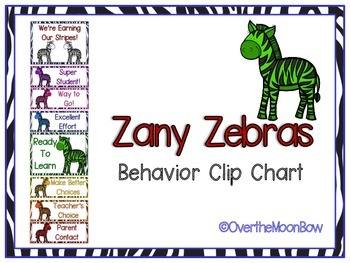 Zany Zebras Behavior Clip Chart