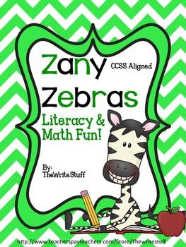 Zebras Literacy and Math