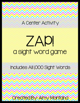 Zap! {A Sight Word Game}
