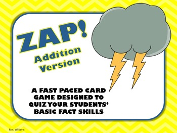 Zap! Addition Facts Game