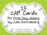 First Day Jitters ZAP! Vocabulary Cards