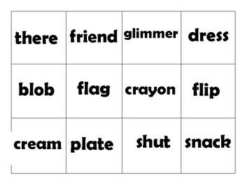 Zap! Consonant Blends (60 cards per set)