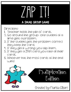 Zap It! Multiplication