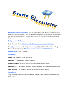 Zap It! -- Static Electricity Investigations