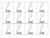 Zap! Long e, Silent e, cvc, and short vowel words (60 card
