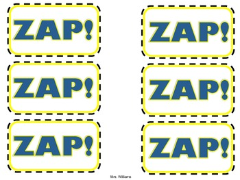 Zap! Multiplication Card Game