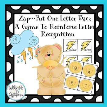 Alphabet Letter Recognition Zap Put One Letter Back Game