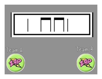 Zap! Rhythm Learning Game (Quarter/Eighth/Rest)