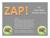 Zap! Rhythm Learning Game (Quarter/Eighth/Rest)