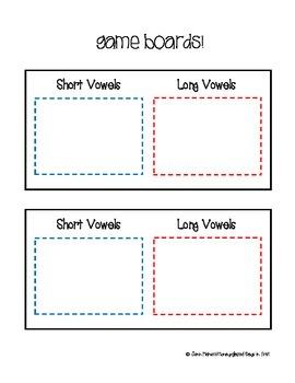 Zap! Word Game: Short vs. Long Vowels vCe