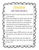 Zap! Word Sort Game: Vowel sounds long ai, aCe, ay; short a