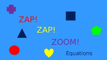 Zap Zap Zoom Equations Game