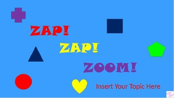 Zap Zap Zoom Game Template - All Subjects and Grades