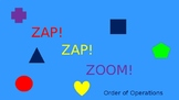 Zap Zap Zoom Order of Operations Game