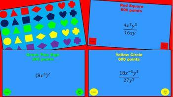 Zap Zap Zoom - Properties of Exponents (8.EE.A.1)