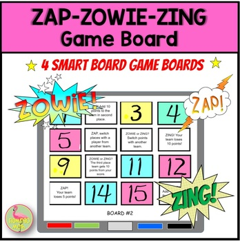 Zap-Zowie-Zing Game Board Set