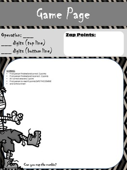 Zap the Zombie - Halloween Maths Revision