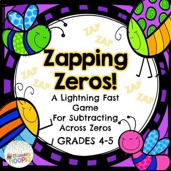 subtracting across zero worksheet