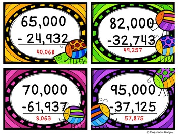 Zapping Zeros: A Subtracting Across Zeros Game by Classroom Hoopla