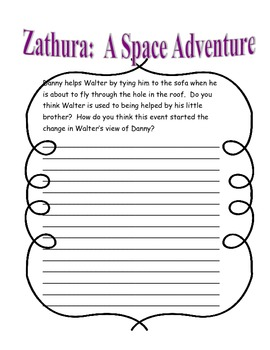 Zathura CLOSE reading Questions