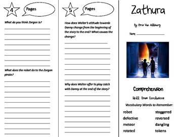 Zathura Trifold - California Treasures 5th Grade Unit 4 Week 4