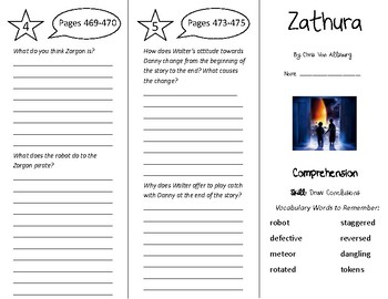 Zathura Trifold - Treasures 5th Grade Unit 4 Week 4 (2011)
