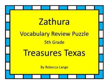 Zathura Vocabulary Review Puzzle