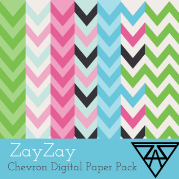 ZayZay, Chevron Digital Paper Pack
