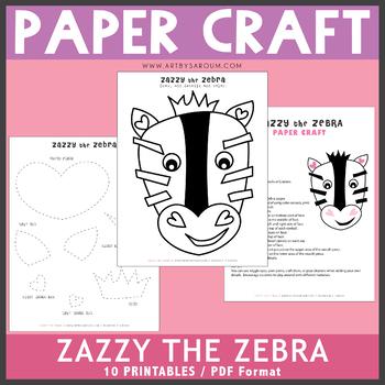 Zazzy the Zebra Paper Craft